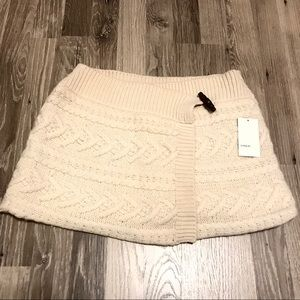 NWT Vince Wrap Cable O/S Cream Mini Skirt